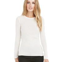 Long Sleeve Round Neck Plain T-shirt