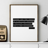 Jared Leto from 30 Seconds to Mars Inspirational Quote Boyfriend Gift Living Room Print GYM DECOR Celebrity Quote Printable Art Office Print