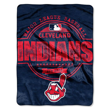 Cleveland Indians MLB Micro Raschel Blanket (Structure Series) (45in x 60in)