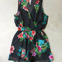 Sugarberry Print Romper [7180] - $42.00 : Feminine, Bohemian, & Vintage Inspired Clothing at Affordable Prices, deloom
