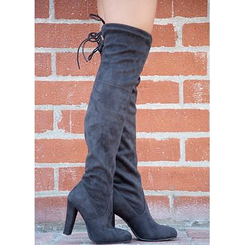 Danielle Over the Knee Boot - Grey