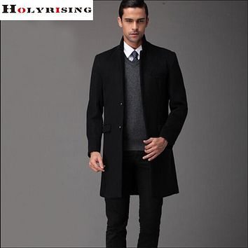 New winter slim jacket men's wool blends coat male casual coat high quality windbreaker