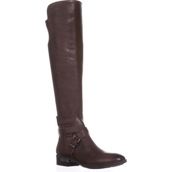 Vince Camuto Paton Flat Knee-High Fashion Boots, Sherwood Bark, 5.5 US