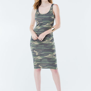 Easy Camo Easy Go Midi Tank Dress