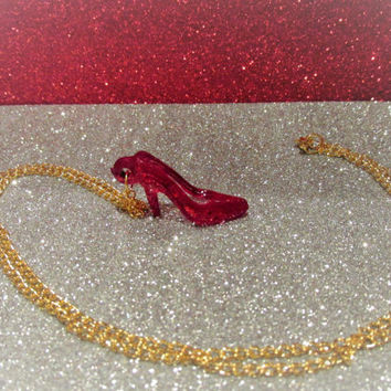Wizard of Oz Ruby Slipper Necklace