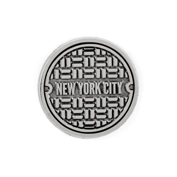 NYC Sewer Cover Pin