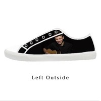Custom Shawn Mendes Play Whit Guitar Women's Canvas Shoes Fashion Shoes for Women