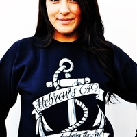 Hope Anchor Navy-Sweatshirt