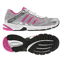 Buy Adidas Duramo 4 Women's Running Shoes, White/Intense Pink online at JohnLewis.com
