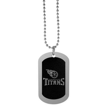 Tennessee Titans Chrome Tag Necklace FTNB185