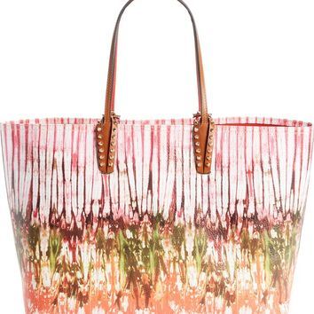 Christian Louboutin Cabata Bazin Printed Leather Tote | Nordstrom