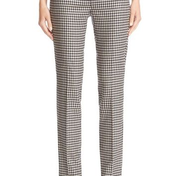 Max Mara 'Pio' Check Stretch Wool Flannel Ankle Pants | Nordstrom