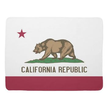 Patriotic baby blanket with Flag of California