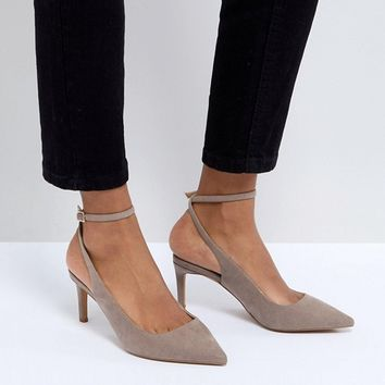 ASOS SABRINA Wide Fit Mid Heels at asos.com