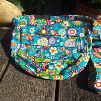 Turquoise and colorful corduroy fanny pack,belt bag,hip bag