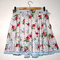 Lolita Skirt Floral Frilly Lace Kawaii Spotty Lacey Polka Dots Roses Sweet Decora Fairy Kei Clothing