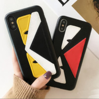 Fendi : print phone shell phone case for Iphone 6/6S/6P/6SP/7P/7/8/8P/X