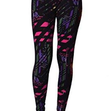 VIV Collection Popular Printed Brushed Buttery Soft Leggings Regular and Plus 40+ Designs List 1