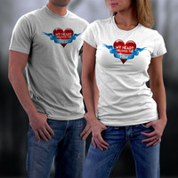 Valentines, Valentine Couples Shirts, Valentine Gifts, My Heart Belongs to Him Matching Couples Shirts