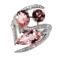 Shaun Leane Morganite Pink Tourmaline Diamond Gold Aurora Ring