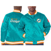 Miami Dolphins Starter Genuine Satin Jacket – Aqua