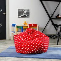 Medium Twill Polka Dot Bean Bag