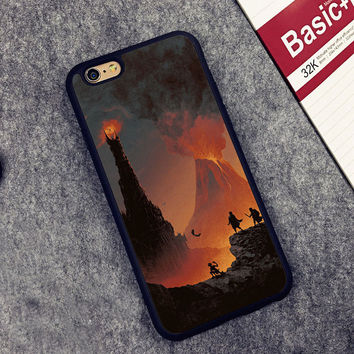 LORD OF THE RINGS MORDOR Soft Rubber Mobile Phone Cases Accessories For iPhone 6 6S Plus 7 7 Plus 5 5S 5C SE 4 4S Cover Shell