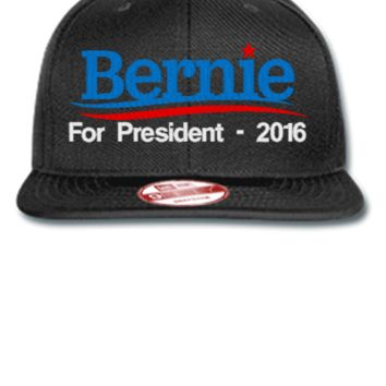 Bernie Sanders 2016 EMBROIDERY HATS - New Era Flat Bill Snapback Cap