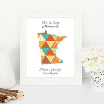 unique gifts, creative gifts, countries, customised maps, personalised maps, custom maps, personalised print, hipster wedding, minnesota