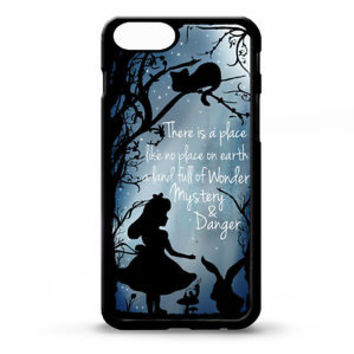 Disney Alice In Wonderland Silhouette Case Cover For iPhone 5S 5C 6 6s 6s Plus