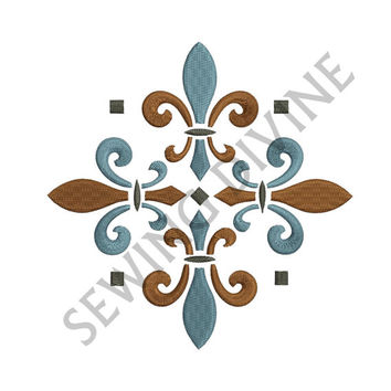 EMBROIDERY DESIGN FLEUR de lis Decorative 3 Sizes 8 Formats Instant Download