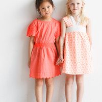 Stella McCartney Annabelle Girls Dress W. Embroidery Sleeves - 332617 - Only size 3 left! FINAL SALE