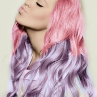 Set of 4 - Hair Chalk Pink and Purple - Premium Salon Grade - Temporary Color Pastels