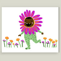 Flower Child Art Print by yetzenialeiva on BoomBoomPrints