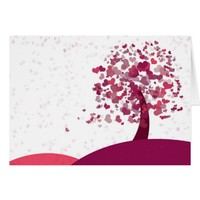 Pint hearts on pink hills valentines card