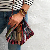 Joni Bobo Messenger Small  Kilim Bag, Cross Body  Boho Purse