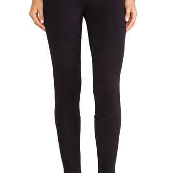 C&C California Ottoman Stitch Ponte Leggings in Black