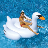 White Swan Summer Swimming Pool Lounge Float Inflatable Swan Giant Rideable Pool Water Lake Kid Toys