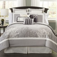 Parc 10-pc. Comforter Set (Grey)
