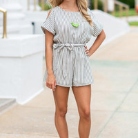 On Another Level Romper, Off White