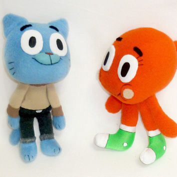 Gumball & Darwin, stuffed toys from Amazing World of Gumball