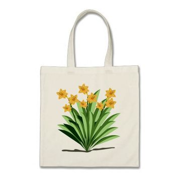 Pretty Yellow Flower Design Tote Bag