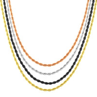 """Men's Stainless Steel 24 """" Fashion Rope Chain"""