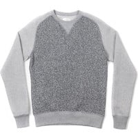 CREWNECK SWEATSHIRT-GREY MARLED FLEECE