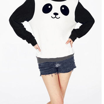 Black And White Panda Sweatshirt