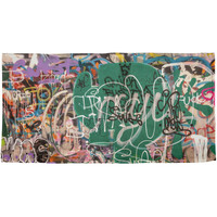 Graffiti All Over Plush Beach Towel