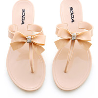 Royal Ribbon Sandals - Nude