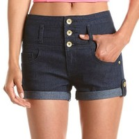 Refuge High Rise Button-Tab Shortie: Charlotte Russe