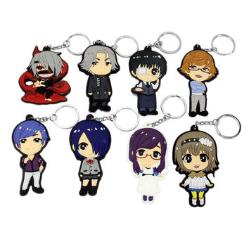 Cosplay Tokyo Ghoul Anime Characters 8 PCS Keychain Key Pendant Accessories