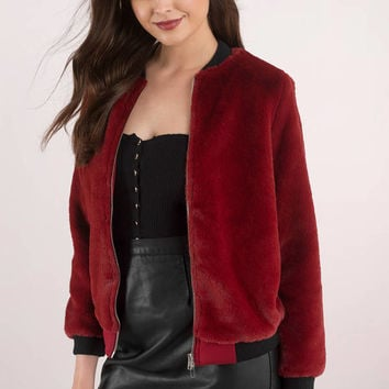 Fuzzy Feeling Faux Fur Bomber